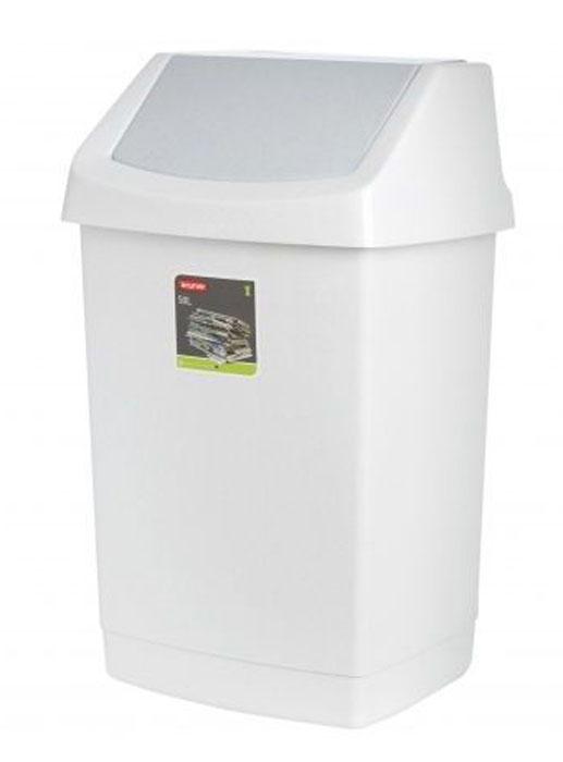 Контейнер для мусора Curver Клик-ит, цвет: светло-серый, 50 л04045-591Контейнер для мусора Curver Клик-ит изготовлен из прочного пластика. Контейнер снабжен удобной съемной крышкой с подвижной перегородкой. В нем удобно хранить мелкий мусор. Благодаря лаконичному дизайну такой контейнер идеально впишется в интерьер и дома, и офиса.