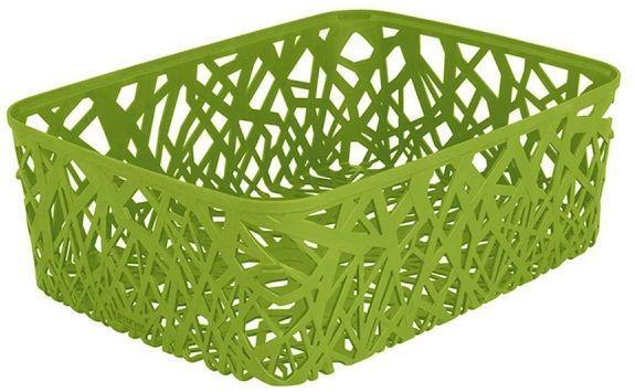 Корзина универсальная Curver Neo Colors, цвет: зеленый, 37,7 x 29 x 12,7 см04161-598-03Универсальная корзина Curver Neo Colors изготовлена из высококачественного пластика. Стенки и дно изделия оформлены изящной перфорацией. Корзина предназначена для хранения различных предметов в ванной, на кухне, на даче или в гараже. Позволяет хранить мелкие вещи, исключая возможность их потери.