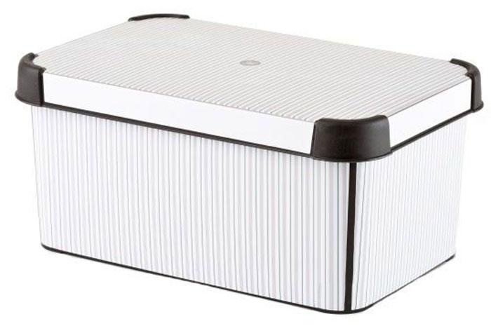 Коробка для хранения Curver Stockholm. Classico, 6 л10503Коробка Curver Stockholm. Bamboo, выполненная из высококачественного пластика, предназначена для хранения различных вещей. Изделие оформлено оригинальным принтом. Коробка оснащена крышкой. Изящный дизайн коробки впишется в любой интерьер. Декоративная коробка поможет хранить все в одном месте, а также защитить вещи от пыли, грязи и влаги.