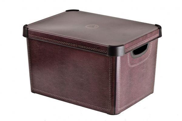 Коробка для хранения Curver Stockholm. Leather, 22 лES-412Коробка Curver Stockholm. Leather, выполненная из высококачественного пластика, предназначена для хранения различных вещей. Изделие оформлено принтом под кожу. Коробка оснащена крышкой удобными ручками. Изящный дизайн коробки впишется в любой интерьер. Декоративная коробка поможет хранить все в одном месте, а также защитить вещи от пыли, грязи и влаги.