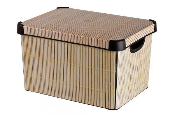 Ящик для хранения Curver Стокгольм. Bamboo, 22 л04711-D67Ящик для хранения Curver Стокгольм. Bamboo, 22 л