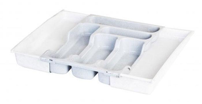 Лоток для столовых приборов Curver, раздвижной, цвет: серыйVT-1520(SR)Лоток для столовых приборов Curver - изготовлен из высококачественного пищевого пластика. Лоток имеет семь отделений: три отделения для вилок, ложек, ножей, два малых отделения для чайных ложек и десертных вилок, два больших отделения для остальных приборов.