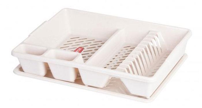 Сушилка для посуды Curver, с поддоном, цвет: бежевый, 47 х 38 х 8,5 см13401-704Сушилка для посуды Curver изготовлена из высококачественного прочного пластика. Изделие оснащено пластиковым поддоном для стекания воды и содержит секции для вертикальной сушки посуды и столовых приборов. Такая сушилка не займет много места на кухне и поможет аккуратно хранить вашу посуду. Размер сушилки: 47 см х 38 см х 8,5 см. Размер поддона: 47 см х 38 см х 1,8 см.