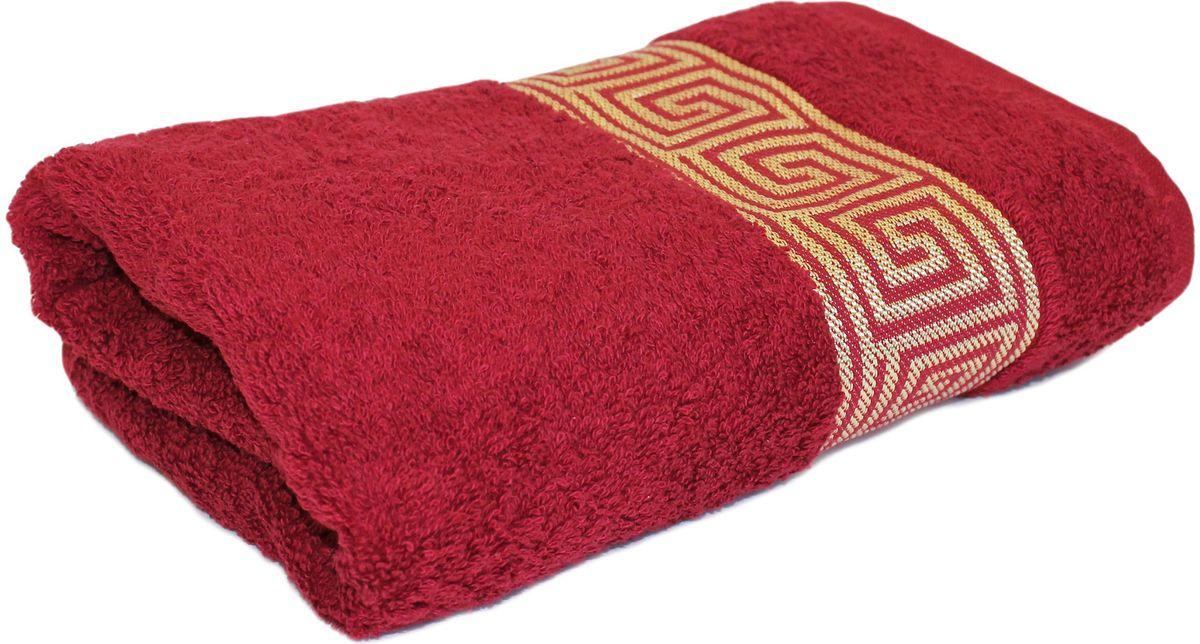 Полотенце Proffi Home Классик, цвет: бордовый, 50x100 смPH3282Состав: 100% хлопок.
