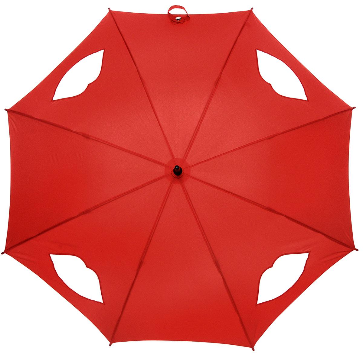 Зонт-трость женский Lulu Guinness Kensington, механический, цвет: темно-красный. L777-27853.7-12 navyМодный механический зонт-трость Fulton Lulu Guinness даже в ненастную погоду позволит вам оставаться стильной и элегантной. Каркас зонта состоит из 8 спиц и стержня из фибергласса. Купол зонта выполнен из прочного полиэстера и оформлен вставками в виде губ, которые выполнены из полупрозрачного материала. Изделие оснащено удобной рукояткой из дерева.Зонт механического сложения: купол открывается и закрывается вручную до характерного щелчка.Модель закрывается при помощи хлястика на кнопке.Такой зонт не только надежно защитит вас от дождя, но и станет стильным аксессуаром, который идеально подчеркнет ваш неповторимый образ.