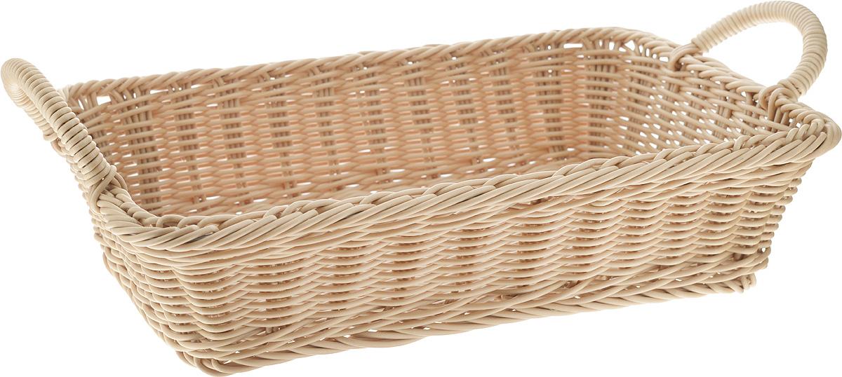 Хлебница Kesper, 36 х 26,5 х 14,5 см1979-0Плетеная хлебница Kesper, выполненная из высококачественного металла и пластика, оснащена удобными ручками. Изделие прекрасно подойдет для хранения хлебобулочных изделий, а также фруктов. Красивая плетеная хлебница изысканно украсит интерьер вашей кухни.