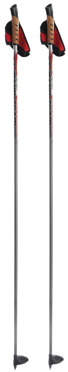 Палки лыжные Larsen Team, алюминиевые, длина 140 см221851-140Спортивные палки Larsen Team - это превосходный выбор для любителей активного катания на лыжах. Модель выполнена из легкого алюминия. Рукоятка выполнена из синтетической пробки и полипропилена, она имеет удобный хват, рука не мерзнет и не скользит по ручке. Гоночный темляк с конструкцией капкан удобно надевается и надежно поддерживает кисть. Облегченная лапка с твердосплавным наконечником не проваливается в снег. Спортивные палки подойдут как начинающим лыжникам, так и опытным спортсменам. Длина палок: 140 см.
