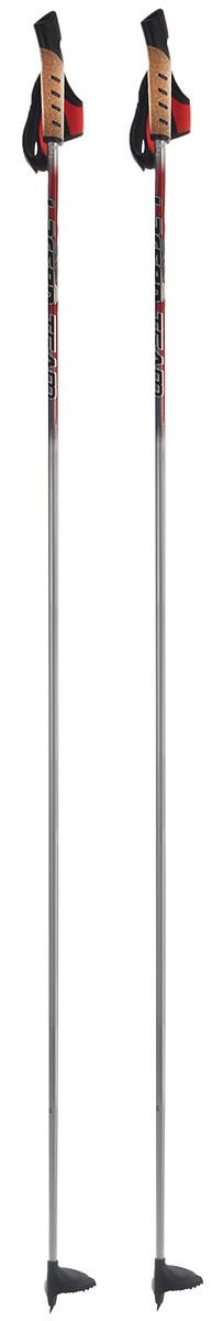 Палки лыжные Larsen Team, алюминиевые, длина 160 см221855-160Спортивные палки Larsen Team - это превосходный выбор для любителей активного катания на лыжах. Модель выполнена из легкого алюминия. Рукоятка выполнена из синтетической пробки и полипропилена, она имеет удобный хват, рука не мерзнет и не скользит по ручке. Гоночный темляк с конструкцией капкан удобно надевается и надежно поддерживает кисть. Облегченная лапка с твердосплавным наконечником не проваливается в снег. Спортивные палки подойдут как начинающим лыжникам, так и опытным спортсменам. Длина палок: 160 см.