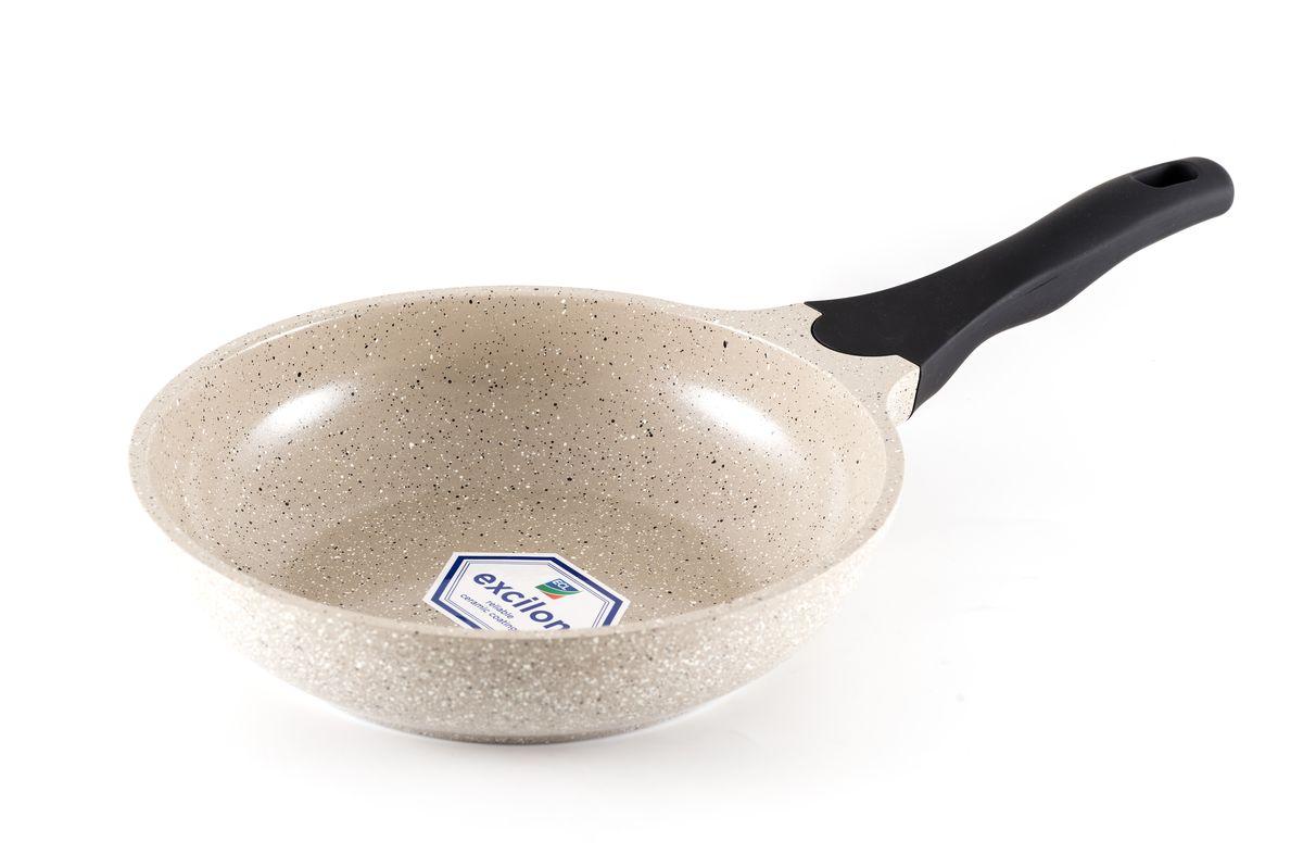 Сковорода Gipfel Stone, с мраморным покрытием. Диаметр 20 смFS-91909Сковорода Gipfel Stone изготовлена из высококачественного алюминия с мраморным покрытие. Такое покрытием предотвращает пригорание пищи и ее прилипание к стенкам. Оно абсолютно безопасно для здоровья и не выделяет вредных веществ во время готовки.Тепло распределяется равномерно по всей поверхности посуды, что позволяет пище готовиться быстрее. Изделие снабжено удобной эргономичной ручкой из бакелита. Посуда подходит для использования на всех видах плит, включая индукционные. Можно мыть в посудомоечной машине. Высота стенки: 5,5 см.Диаметр сковороды (по верхнему краю): 20 см.