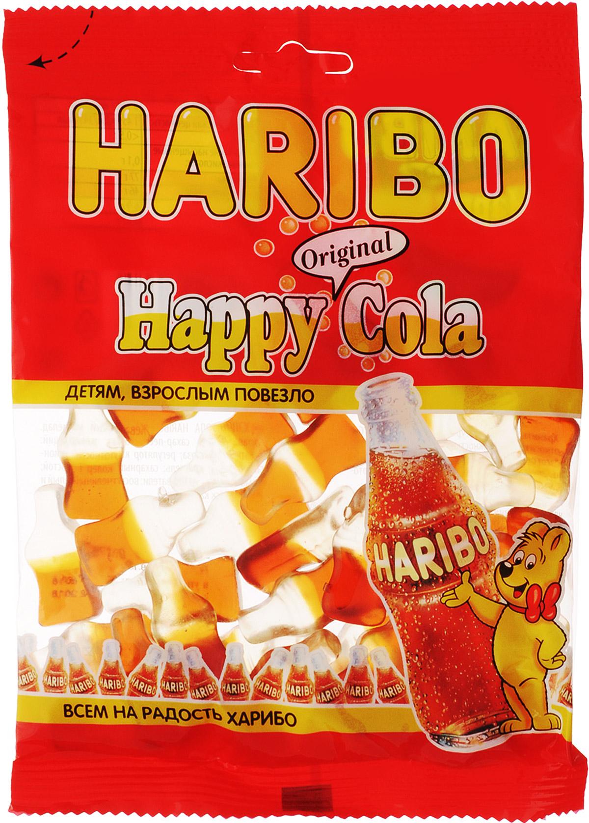 Haribo Happy Cola жевательный мармелад, 140 г31367Happy Cola Haribo - оригинальный формат в категории жевательного мармелада с насыщенным вкусом любимого всеми напитка! Его любят и взрослые, и дети! Haribo Happy Cola со вкусом колы - это настоящая классика в продуктовой линейке Haribo, ваш заряд энергии на целый день! Уважаемые клиенты! Обращаем ваше внимание, что полный перечень состава продукта представлен на дополнительном изображении.