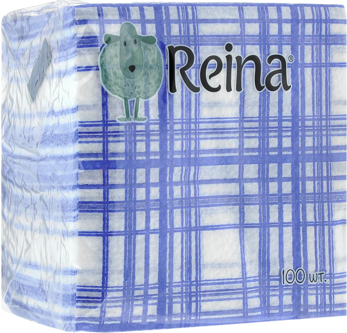Салфетки бумажные Reina, однослойные, 12 х 12 см, 100 штPUL-000220ксСалфетки бумажные Reina, выполненные из натуральной целлюлозы, станут отличным дополнением любого праздничного стола. Они отличаются необычной мягкостью и оригинальностью. Размер салфетки: 12 х 12 см. Количество слоев: 1.
