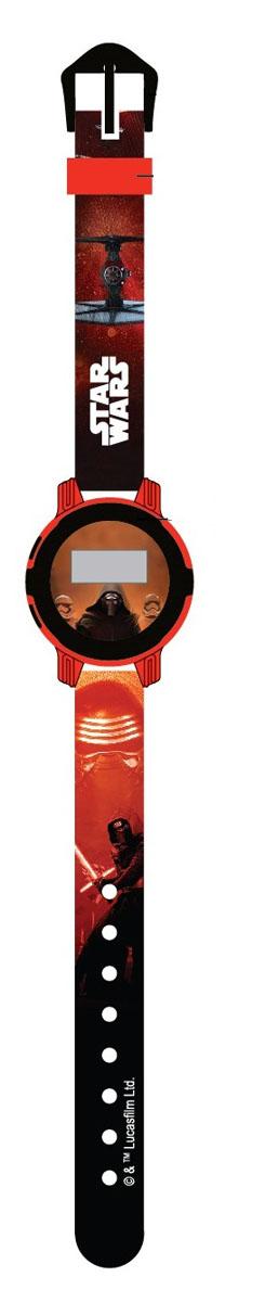Часы наручные электронные Star Wars, цвет: красный, черный. SS700012SS700012Электронные детские часы с корпусом и браслетом из пластика. Циферблат защищен от повреждений прочным пластиковым стеклом. Товар изготовлен полностью из пластмассы с питанием от химических источников тока, 1 сменный элемент включен в комплект (LR41 (AG3) 1.5 V). Рекомендуемый возраст: от 3 лет.