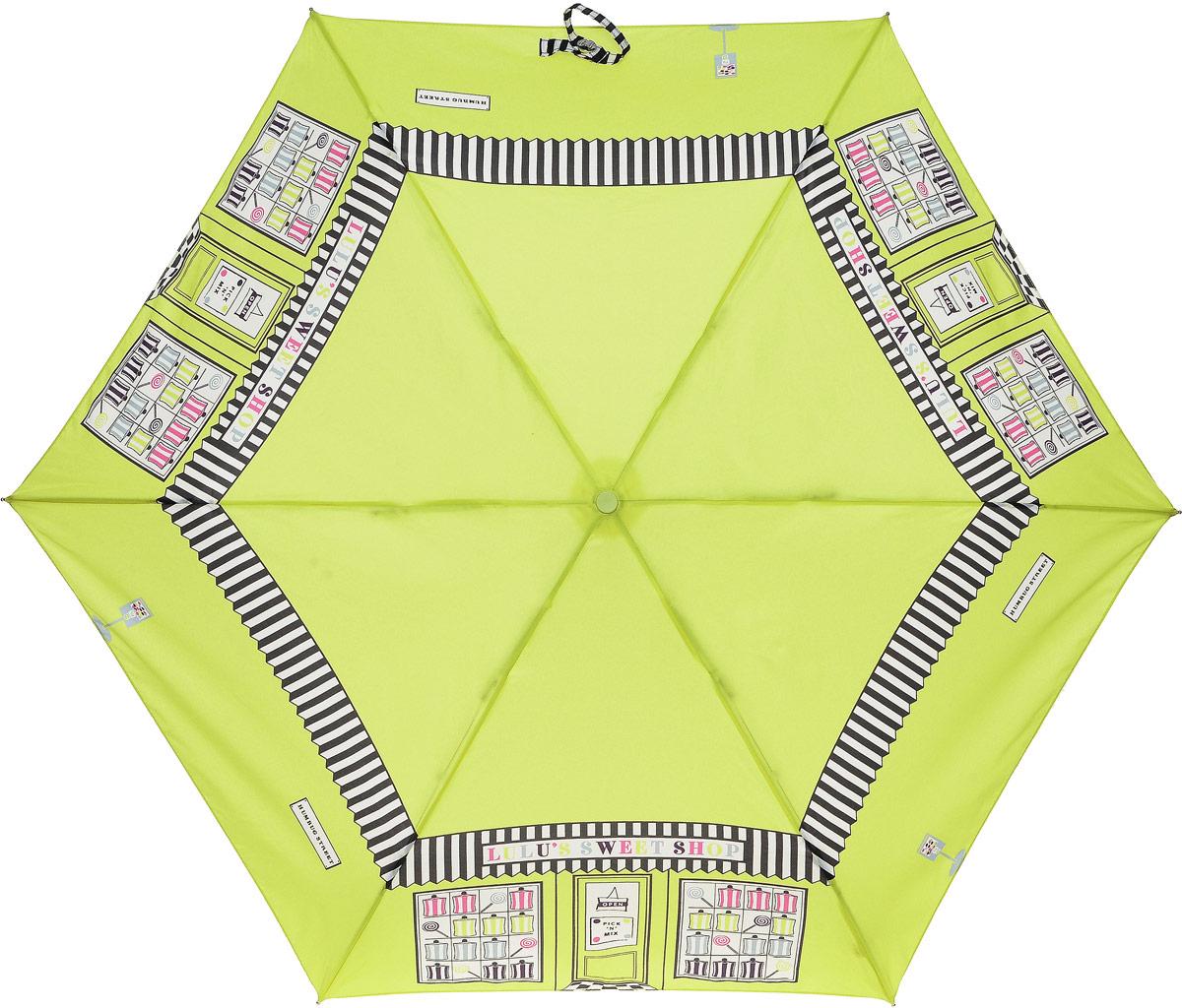Зонт женский Lulu Guinness Superslim, механический, 3 сложения, цвет: черный, белый, салатовый. L718-27888L035081M/35449/2900NСтильный механический зонт Lulu Guinness Superslim в 3 сложения даже в ненастную погоду позволит вам оставаться элегантной. Облегченный каркас зонта выполнен из 6 спиц из фибергласса и алюминия, стержень также изготовлен из алюминия, удобная рукоятка - из пластика. Купол зонта изготовлен из прочного полиэстера и имеет оригинальный дизайн. В закрытом виде застегивается хлястиком на кнопку. Зонт механического сложения: купол открывается и закрывается вручную до характерного щелчка. К зонту прилагается чехол, который дополнительно застегивается на липучку.Такой зонт компактно располагается в глубоком кармане, сумочке, дверке автомобиля.