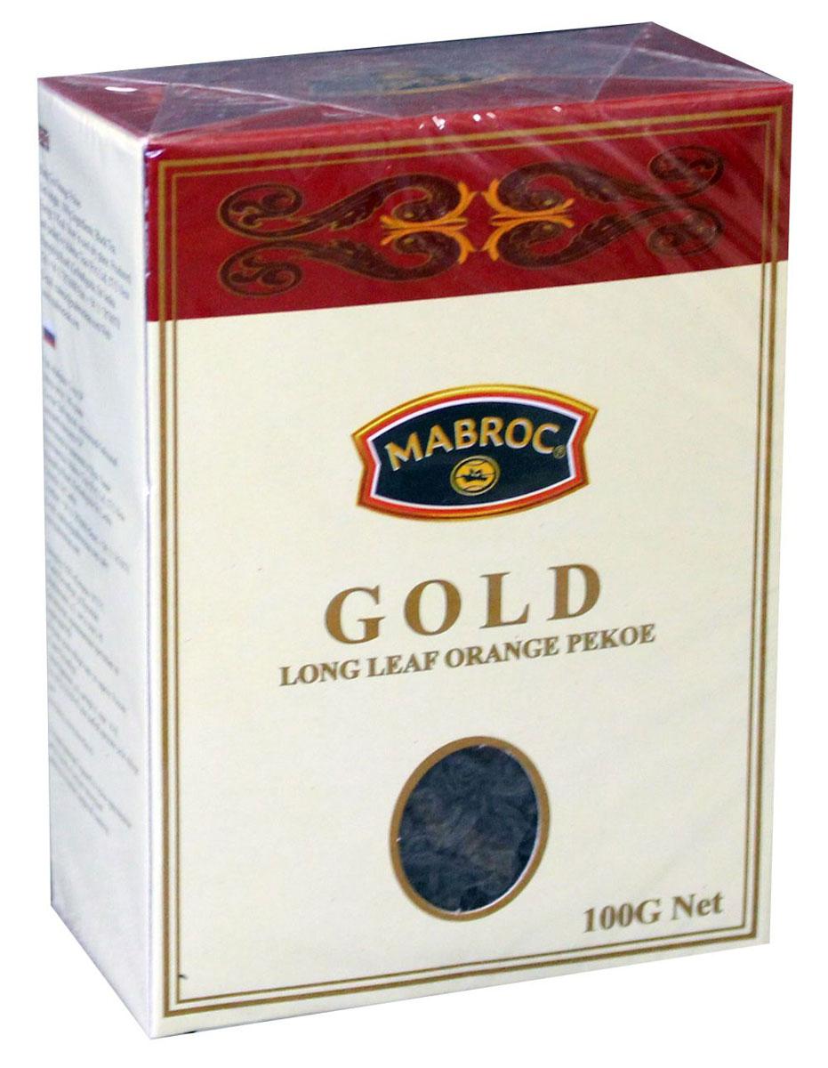 Mabroc Голд чай черный листовой, 100 г4791029062716Чай Маброк, коллекция Голд. Стандарт: OP - крупный лист. Листья для этого чая собирают с кустов после того, как почки полностью раскрываются. Для этого сорта собирают первый и второй лист с ветки. В сухой заварке листья должны быть крупными (от 8 мм до 15 мм), однородными, хорошо скрученными. Этот сорт практически не содержит типсов, имеет достаточно высокое содержание ароматических масел, поэтому настой чая очень ароматен. Также этот чай характерен вкусом с горчинкой благодаря большому содержанию дубильных веществ.