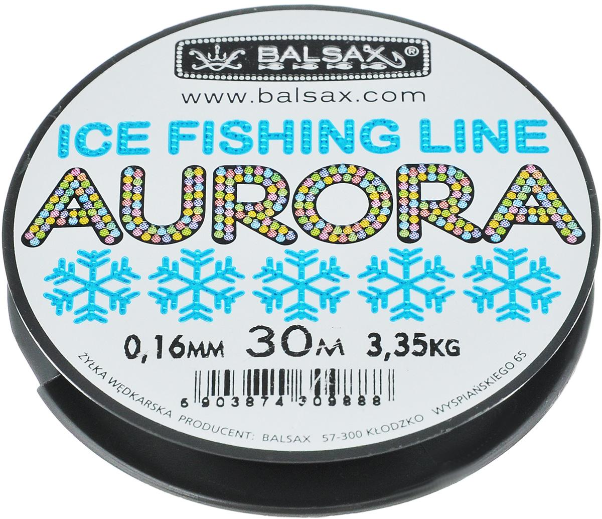 Леска зимняя Balsax Aurora, 30 м, 0,16 мм, 3,35 кг310-04016Леска зимняя Balsax Aurora изготовлена из 100% нейлона и очень хорошо выдерживает низкие температуры. Поверхность лески обработана таким образом, что она не обмерзает и отлично подходит для подледного лова. Прочна в местах вязки узлов даже при минимальном диаметре.