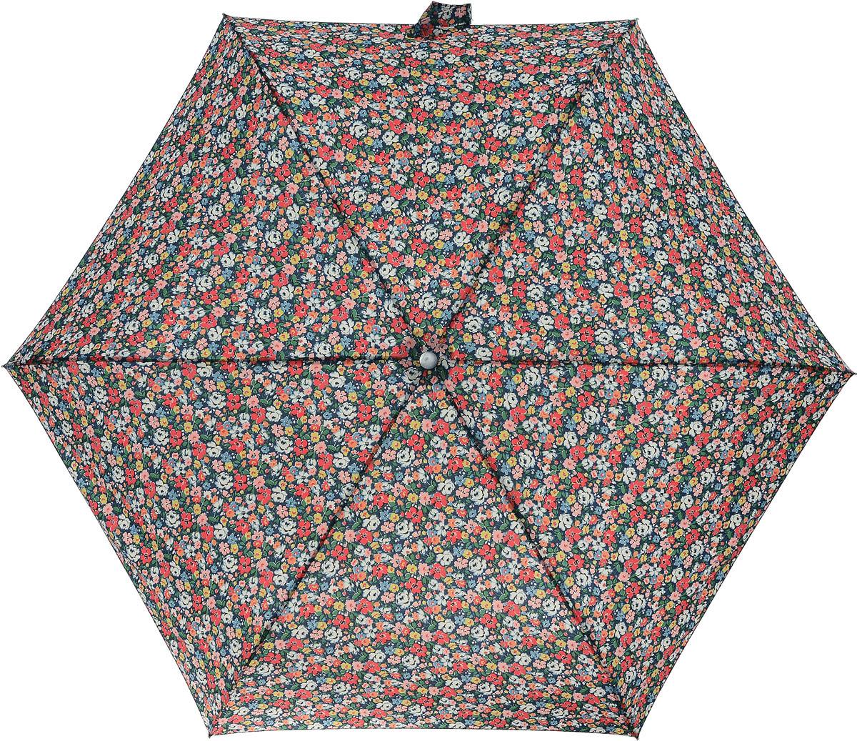 "Зонт женский Cath Kidston ""Minilite"", механический, 3 сложения, цвет: синий, мультиколор. L768-2853 L768-2853 MewsDitsyBlue"