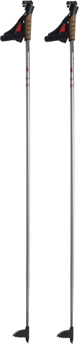 Палки лыжные Larsen Team, алюминиевые, длина 135 смKarjala Comfort NNNСпортивные палки Larsen Team - это превосходный выбор для любителей активного катания на лыжах. Модель выполнена из легкого алюминия. Рукоятка выполнена из синтетической пробки и полипропилена, она имеет удобный хват, рука не мерзнет и не скользит по ручке. Гоночный темляк с конструкцией капкан удобно надевается и надежно поддерживает кисть. Облегченная лапка с твердосплавным наконечником не проваливается в снег.Спортивные палки подойдут как начинающим лыжникам, так и опытным спортсменам.Длина палок: 135 см.