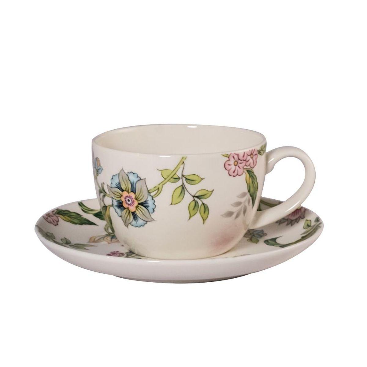 Набор чайных пар Royal Bone China Прованс, 250 мл, 6 шт9016/12274