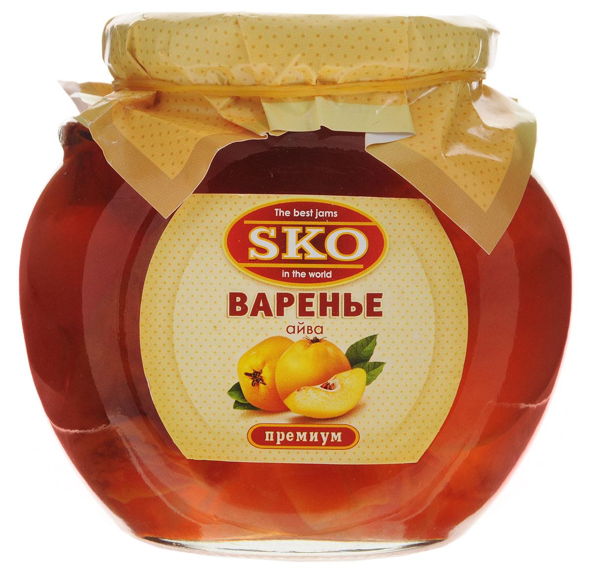 SKO варенье из айвы, 400 г0120710Варенье из айвы SKO - армянское варенье, приготовленное по домашним рецептам и современным технологиям, не содержит пектина. Может использоваться для приготовления пирогов, тортов и других разнообразных десертов, а также в качестве самостоятельного лакомства.Варенье из айвы обладает общеукрепляющими, кровоостанавливающими, антисептическими, мочегонными и вяжущими свойствами и применяется при малокровии, сердечно-сосудистых заболеваниях, заболеваниях желудочно-кишечного тракта, дыхательных путей, астме. Из вкусного варенья готовят начинку в пирожки.