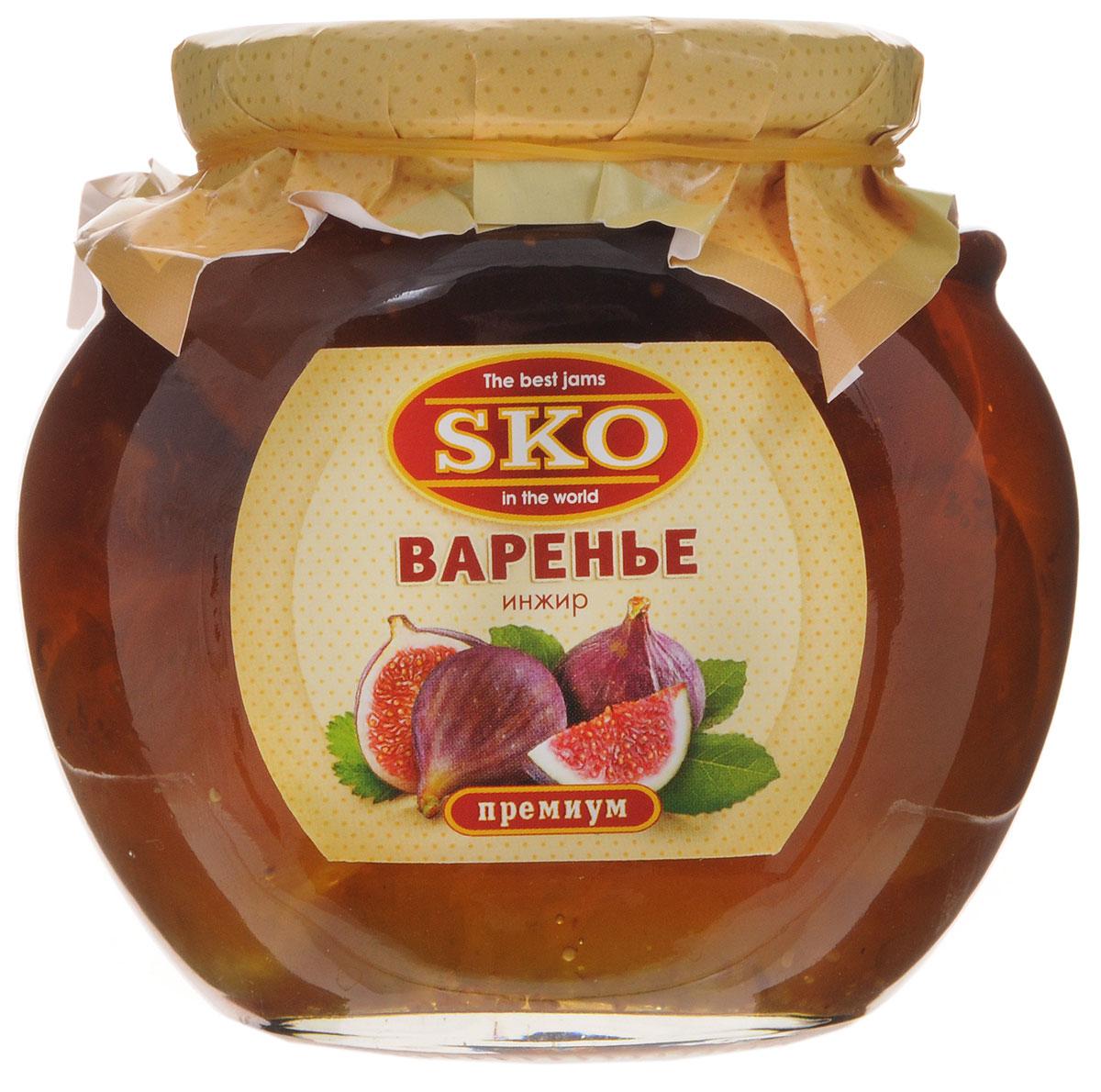 SKO варенье из инжира, 400 г0120710Варенье из инжира SKO - армянское варенье, приготовленное по домашним рецептам и современным технологиям, не содержит пектина. Может использоваться для приготовления пирогов, тортов и других разнообразных десертов, а также в качестве самостоятельного лакомства.Варенье из инжира - это природная кладовая полезных веществ для организма человека. Соплодия инжира богаты аскорбиновой кислотой, витаминами группы B, минеральными веществами, сахарами, фосфором, калием, кальцием, железом, натрием и клетчаткой. Причем, что касается минеральных веществ, инжир можно смело назвать чемпионом среди фруктов по их содержанию.