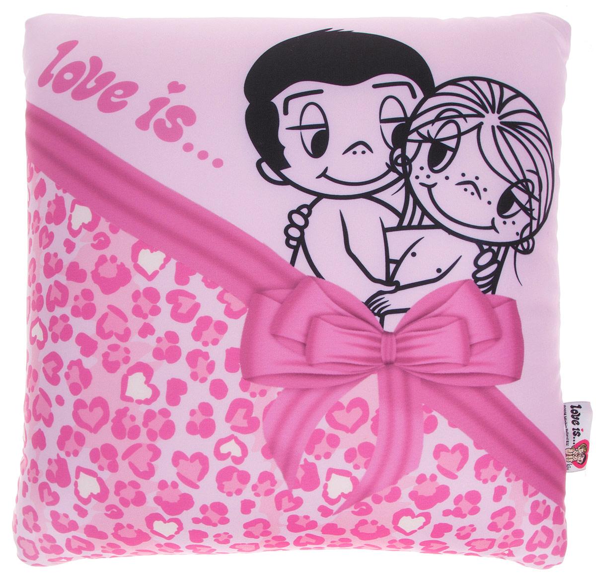 Maxi Toys Подушка Love Is цвет розовый