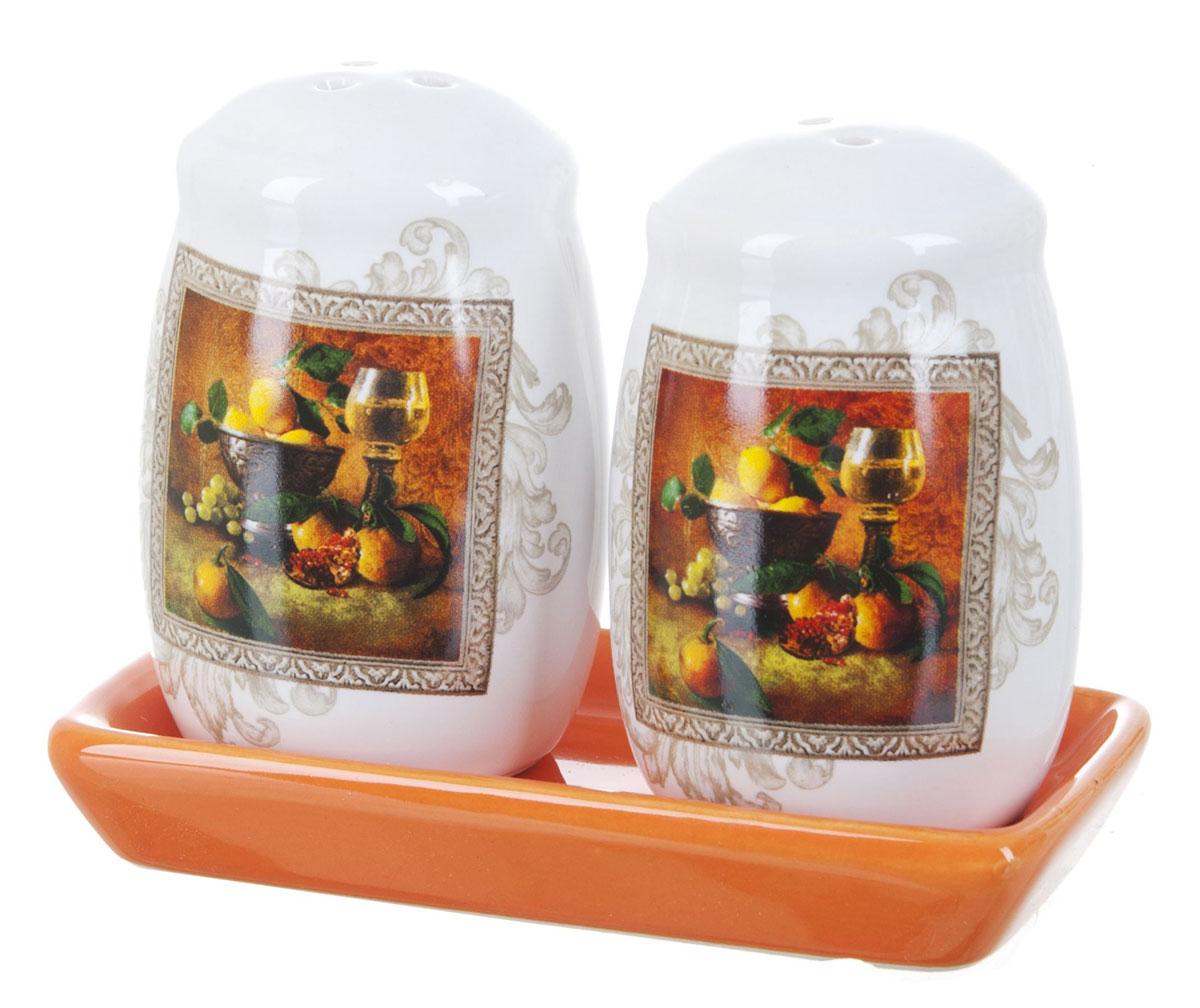 Набор для специй Polystar Севилья, 3 предметаL2520554Набор Севилья для соли и перца, выполненный из керамики, благодаря своим компактным размерам не займет много места на вашей кухне. Солонка и перечница декорированы оригинальным рисунком. Набор Севилья для соли и перца станет отличным подарком каждой хозяйке. Размер набора: 11 x 6 x 8,5 см.