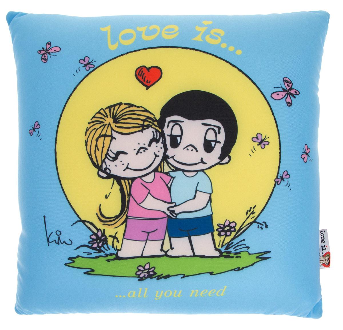 Maxi Toys Подушка Love Is цвет голубой желтый
