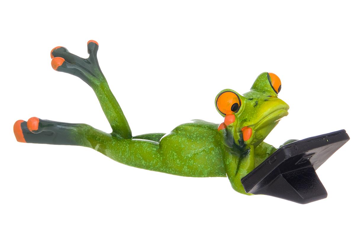 Фигурка декоративная Elan Gallery Лягушонок с планшетом, 18,5 х 6,5 х 5,5 см870194Декоративные фигурки в виде забавных лягушат, изготовленные из полистоуна, станут необычным аксессуаром для вашего интерьера. Эти очаровательные вещицы станут отличным подарком Вашим друзьям и близким.