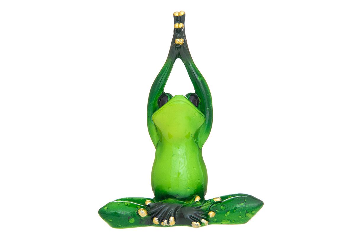 Фигурка декоративная Elan Gallery Лягушонок-йога, высота 12,5 смUP210DFДекоративные фигурки - это отличный способ разнообразить внутреннее убранство вашего дома. Декоративная фигурка с изображением лягушки станет прекрасным сувениром, который вызовет улыбку и поднимет настроение.Фигурка выполнена из полистоуна.Размер статуэтки: 10 х 5 х 12,5 см.