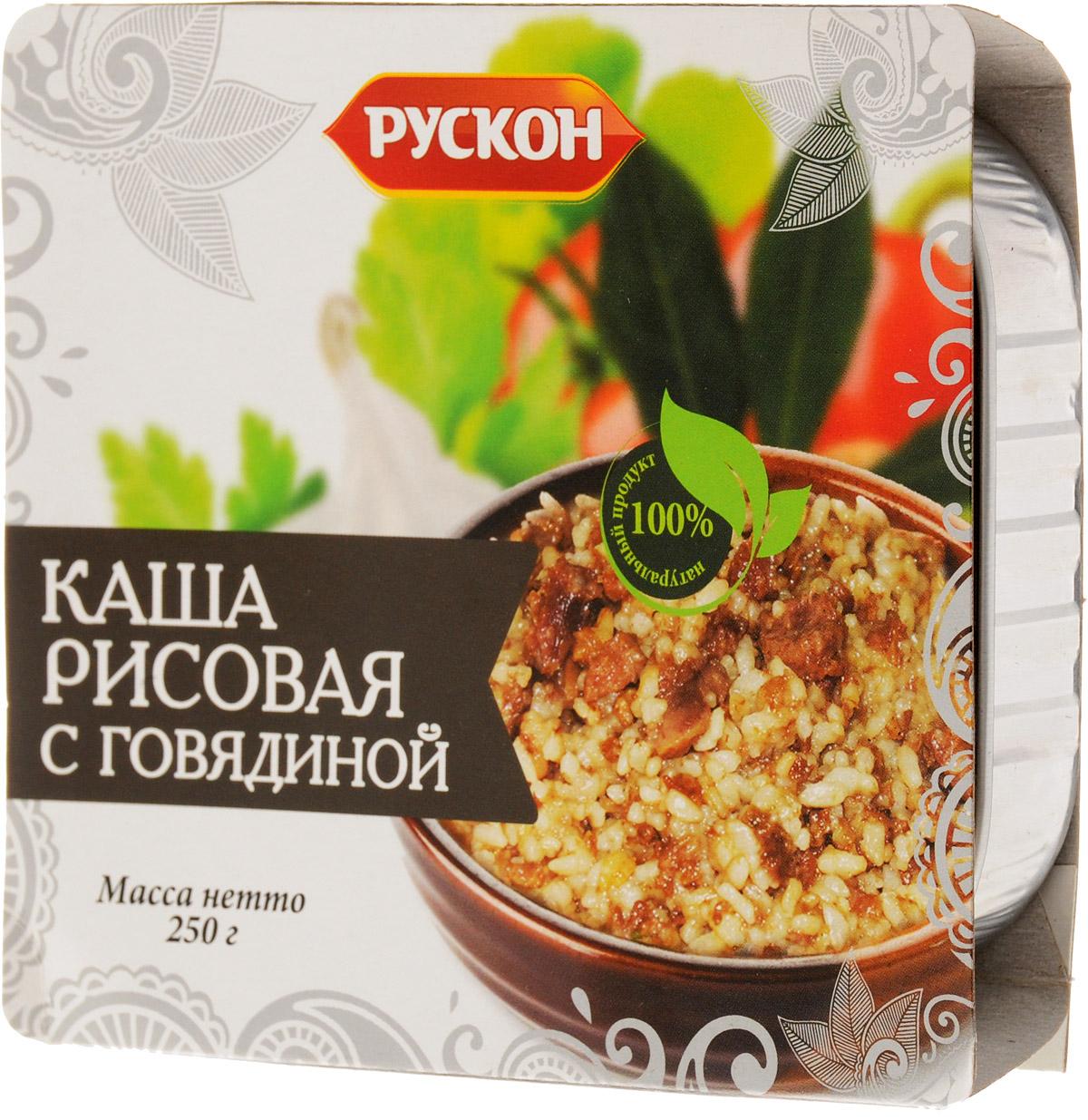 Рускон каша рисовая с говядиной, 250 г