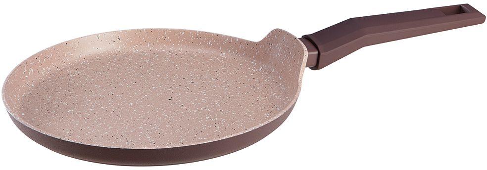 Сковорода блинная Nadoba Tava, с антипригарным покрытием. Диаметр 26 см728521Корпус из кованого алюминия. Прочное 4-слойное антипригарное полностью безопасное покрытие PFLUON Cookmark без PFOA. Ненагревающаяся ручка Софт-тач.