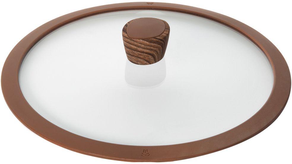 Крышка стеклянная Nadoba Greta, с силиконовым ободом. Диаметр 28 см751311Крышка Nadoba Greta, изготовленная из закаленного стекла, имеет силиконовый обод, благодаря чему идеально прилегает к посуде и обеспечивает равномерное распределение температуры внутри нее. Крышка имеет удобную ненагревающую ручку из пластика с силиконовым покрытием, предотвращающим выскальзывание из рук. По бокам изделие оснащено пароотводом. Такая крышка позволит следить за процессом приготовления пищи без потери тепла. Она плотно прилегает к краям посуды, сохраняя аромат блюд.