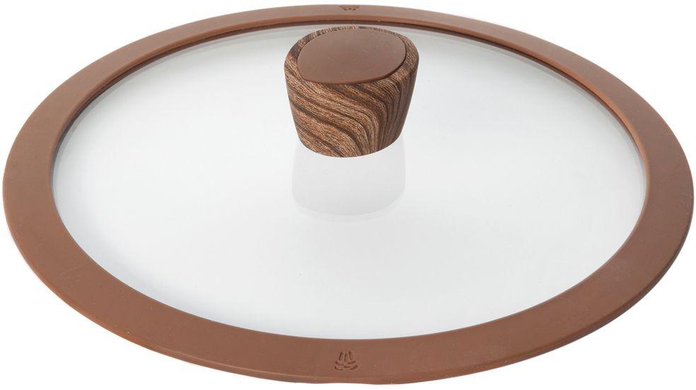 Крышка стеклянная Nadoba Greta, с силиконовым ободом. Диаметр 20 см751315Крышка Nadoba Greta, изготовленная из закаленного стекла, имеет силиконовый обод, благодаря чему идеально прилегает к посуде и обеспечивает равномерное распределение температуры внутри нее. Крышка имеет удобную ненагревающую ручку из пластика с силиконовым покрытием, предотвращающим выскальзывание из рук. По бокам изделие оснащено пароотводом. Такая крышка позволит следить за процессом приготовления пищи без потери тепла. Она плотно прилегает к краям посуды, сохраняя аромат блюд.