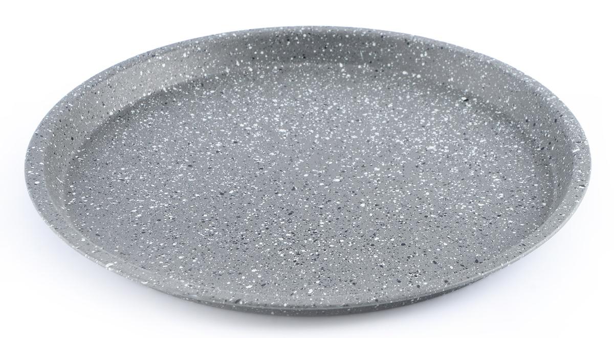 Форма для выпечки пиццы Fissman, с антипригарным покрытием, диаметр 29,5 смBW-5595.29Форма для выпечки пиццы Fissman выполнена из углеродистой стали с антипригарным покрытием TouchStone. Стенки изделия быстро распространяют тепло, и выпечка пропекается равномерно. Готовый продукт легко вынимается из формы, а ее чистка не доставит вам особого труда. Такая форма создана, чтобы пробуждать кулинарную фантазию и удовлетворять творческие кулинарные порывы. Подходит для использования в духовке. Не использовать в микроволновой печи. Высота стенки: 1,8 см. Внутренний диаметр формы: 27,5 см.
