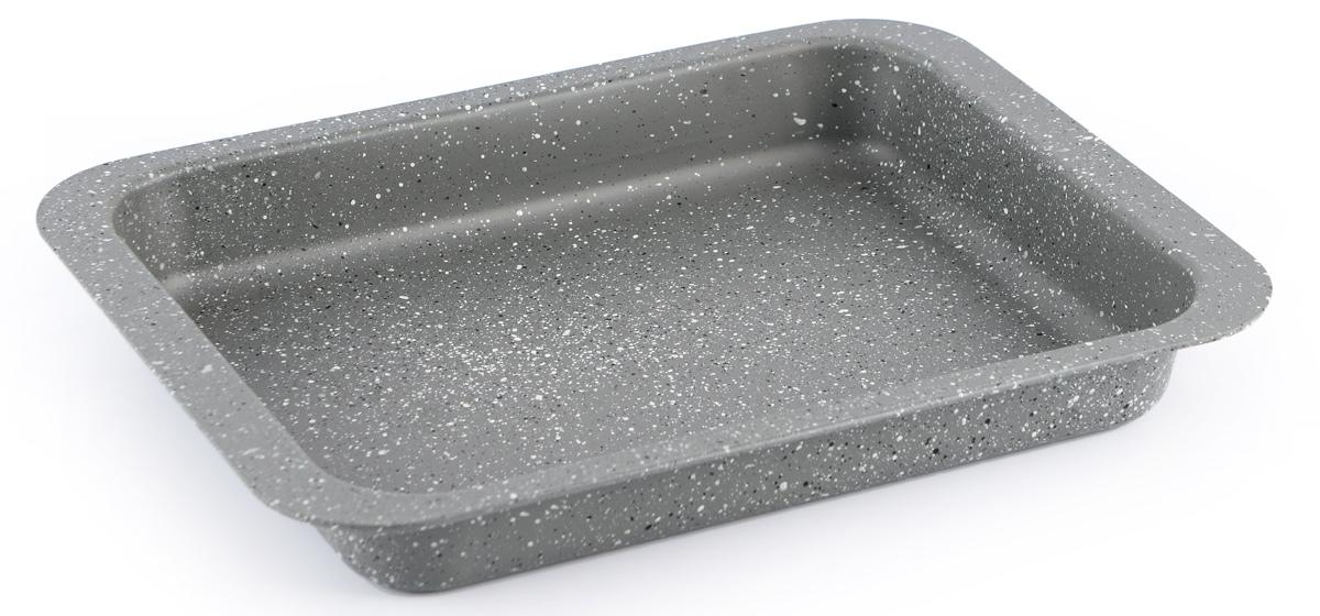 Форма для запекания Fissman, с антипригарным покрытием, 37 x 26,5 x 4,8 смBW-5597.37Форма для запекания Fissman изготовлена из углеродистой стали и обладает превосходными антипригарными свойствами. Не содержит в составе вредных веществ. Форма найдет свое применение для выпечки большинства кулинарных шедевров. Металлические стенки быстро распределяют тепло, и выпечка пропекается равномерно. Благодаря антипригарному покрытию из натуральной крошки на основе минеральных компонентов, готовый продукт легко вынимается, а чистка формы не составит большого труда. Подходит для духовки. Можно мыть в посудомоечной машине.