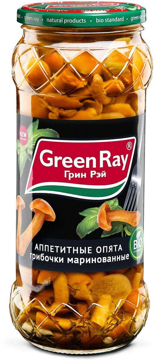 Green Ray опята маринованные, 580 мл629Грибы Green Ray богаты белками и минералами. После обработки в процессе соления или маринада полезные свойства практически не утрачиваются.