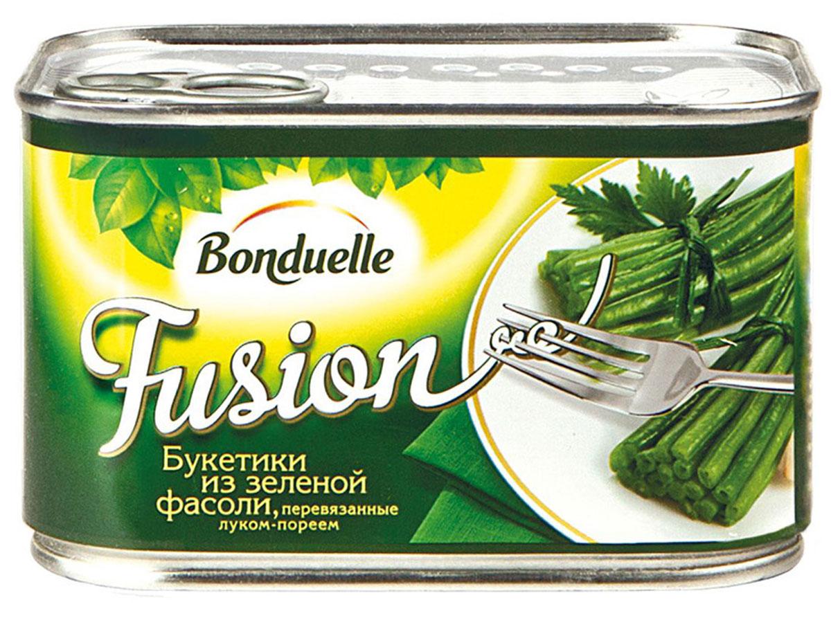 Bonduelle букетики из зеленой фасоли, перевязанные луком-пореем, 400 г