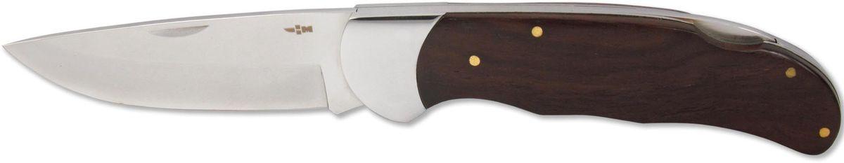 Нож складной Ножемир Чёткий расклад, общая длина 21,2 см. C-106C-106Бренд: Ножемир длина клинка, мм: 91 толщина клинка, мм: 2,8 общая длина, мм: 212 материал рукояти: стабилизированное дерево сталь: 40Х13 твёрдость стали, HRC: 55 — 56 особенность: зеркальная полировка; back lock