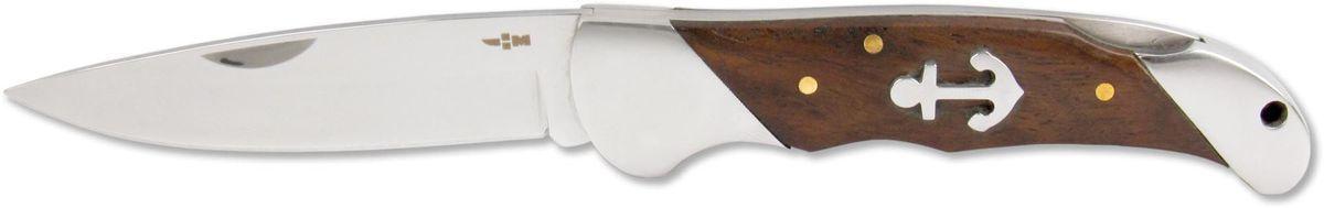 Нож складной Ножемир Четкий расклад, нержавеющая сталь, общая длина 19,3 см. C-172ATC-F-01Классический складной нож Ножемир Четкий расклад подойдет для продолжительных походов на природу, либо как дублирующий нож для основного. Лезвие с зеркальной полировкой выполнено из нержавеющей стали. Рукоять изготовлена из стабилизированного дерева. Фиксатор Back Lock предотвращает нежелательно сложение изделия. Небольшие размеры в сложенном виде обеспечивают легкую транспортировку ножа.Общая длина ножа: 19,3 см.Твердость стали: 55-56 HRC.