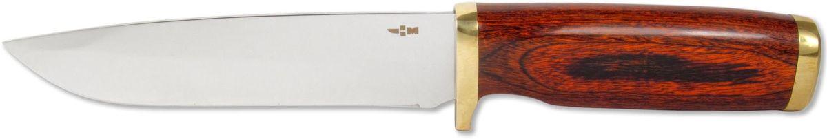Нож туристический Ножемир, нержавеющая сталь, с ножнами, общая длина 22,8 см. H-101H-101Тактический нож Ножемир - это настоящий подарок для опытных туристов, охотников и рыбаков. Он гораздо надежнее и долговечнее складного, а также имеет оптимальную толщину клинка. При длине лезвия более 12,5 см он станет незаменим при разделке крупной дичи, работе в условиях дикой природы и в непредсказуемых ситуациях. Нож приспособлен для работы в разных климатических зонах, не гнется и не деформируется. Рукоятка ножа имеет стальную основу и деревянный верх. В комплект входят ножны, изготовленные из текстиля. Общая длина ножа: 22,8 см. Твердость стали: 55-56 HRC.