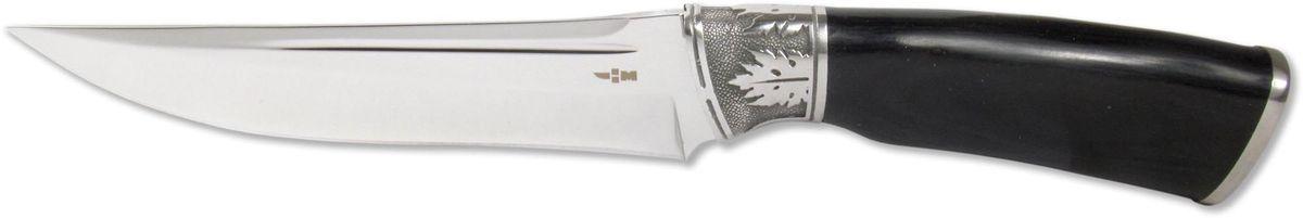 Нож туристический Ножемир, нержавеющая сталь, с ножнами, общая длина 27 см. H-12603/1/12Туристический нож Ножемир - это настоящий подарок для опытных туристов, охотников и рыбаков. Он гораздо надежнее и долговечнее складного, а также имеет оптимальную толщину клинка. При длине лезвия 14,4 см он станет незаменим при разделке крупной дичи, работе в условиях дикой природы и в непредсказуемых ситуациях.Нож приспособлен для работы в разных климатических зонах, не гнется и не деформируется. Рукоятка ножа имеет стальную основу и верх, выполненный из дерева. В комплект входят ножны, изготовленные из текстиля.Общая длина ножа: 27 см.Твердость стали: 55-56 HRC.
