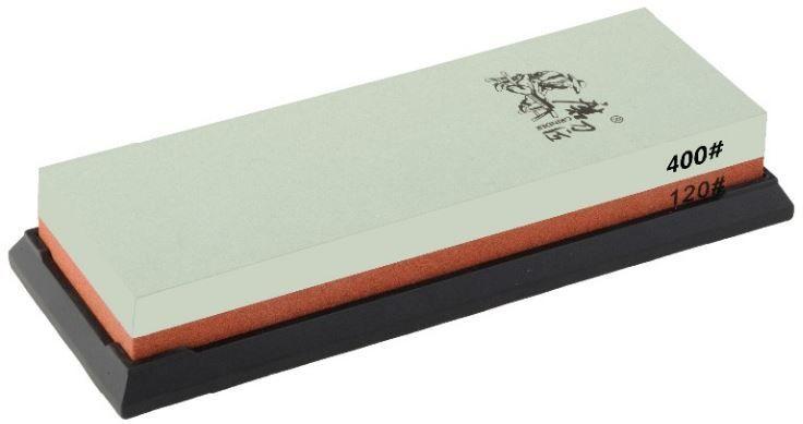 Точильный камень Ножемир, двусторонний, зернистость 120 / 400 грит. T6412WT6412Wполное название: точильный камень двусторонний бренд: Taidea зернистость, грит: 120; 400 масса, гр: 700 размер, см: 19 х 7 х 3,3 упаковка: картонная коробка размер упаковки, см: 20,5 х 8,7 х 4,7 масса в упаковке, гр: 766