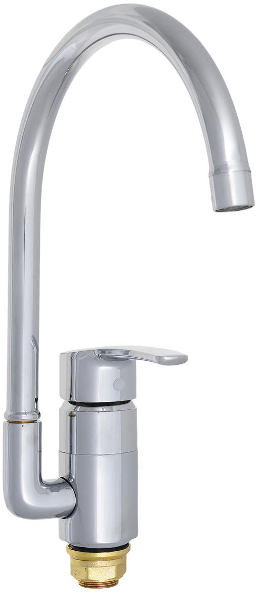 Смеситель для кухни РМС, с высоким поворотным изливом, цвет: хром. SL45-017F смеситель для кухни рмс sl77w 017f 1