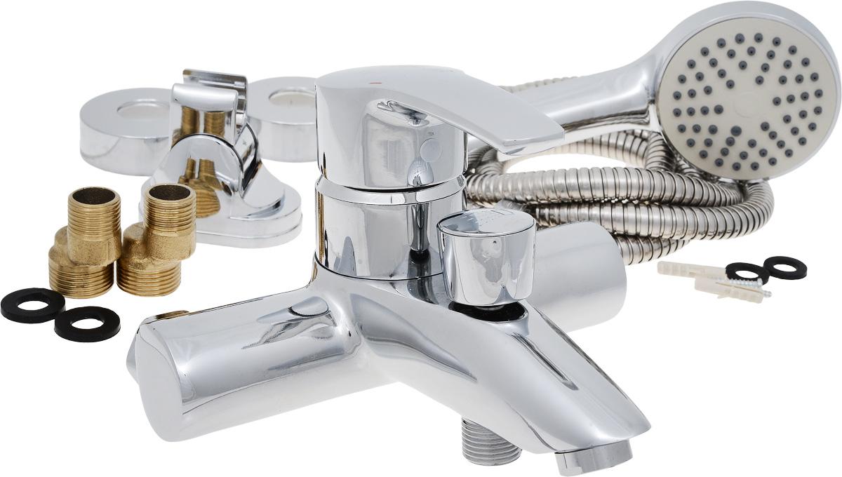 Смеситель для ванны РМС, с коротким литым изливом, цвет: хром. SL45-009SL45-009Смеситель для ванны РМС выполнен из высококачественной латуни с хромированным покрытием. Предназначен для смешивания холодной и горячей воды, устанавливается в ванну. Смеситель имеет штоковый переключатель воды ванна/душ, короткий излив и пластиковый аэратор. Длина шланга для душа: 1,5 м. Размер лейки для душа: 21 х 8 х 4,5 см. Размер смесителя: 19 х 17 х 13 см. Максимальное давление: 10 бар. Испытательное давление: 16 бар. Рекомендуемое давление: 1-5 бар, при давлении выше 6 бар рекомендуется использовать регулятор давления. Максимально допустимая температура: +80°С. Рекомендуемая температура: +65°С. Размер присоединения к угловому вентилю для умывальника: гайка 1/2. Кран-букса керамическая: 1/2. Размер картриджа: 40 мм.
