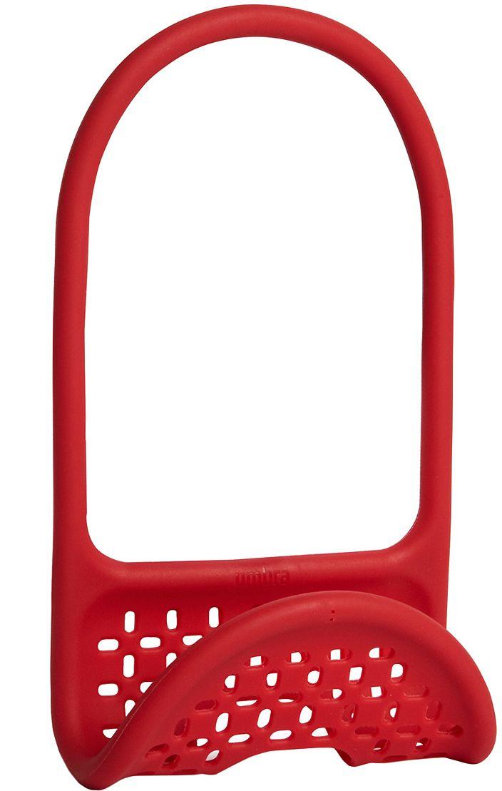 Органайзер для раковины Umbra Sling, цвет: красныйVT-1520(SR)Уникальный органайзер для раковины из металлической проволоки с пластиковым покрытием. Ручка удобно гнётся и позволяет вешать органайзер на водопроводный кран или боковую сторону раковины.Подходит для хранения губок, щёток и прочих приспособлений для чистки и мытья. Перфорация даёт воздуху свободно циркулировать, поэтому губки и щётки будут сохнуть быстрее. Дизайнеры Eugenie de Loynes и Jordan Murphy