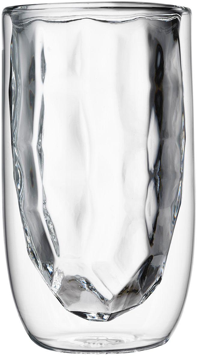 Набор стаканов QDO Elements Metal, 350 мл, 2 штVT-1520(SR)Набор Elements - это оригинальные стаканы с двойными стенками и оригинальным дизайном, изображающим главные элементы природы. Выполнен из боросиликатного стекла, устойчивого к перепадам температур. Каждый стакан состоит из двух форм: классическая внешняя позволит держать емкость с горячим содержимым в руке без риска обжечься, а модифицированная внутренняя придаст вашим напиткам необычный вид. Стаканы станут идеальным украшением барной стойки, вечеринки или просто домашней коллекции. Объем - 350 мл. Можно мыть в посудомоечной машине.