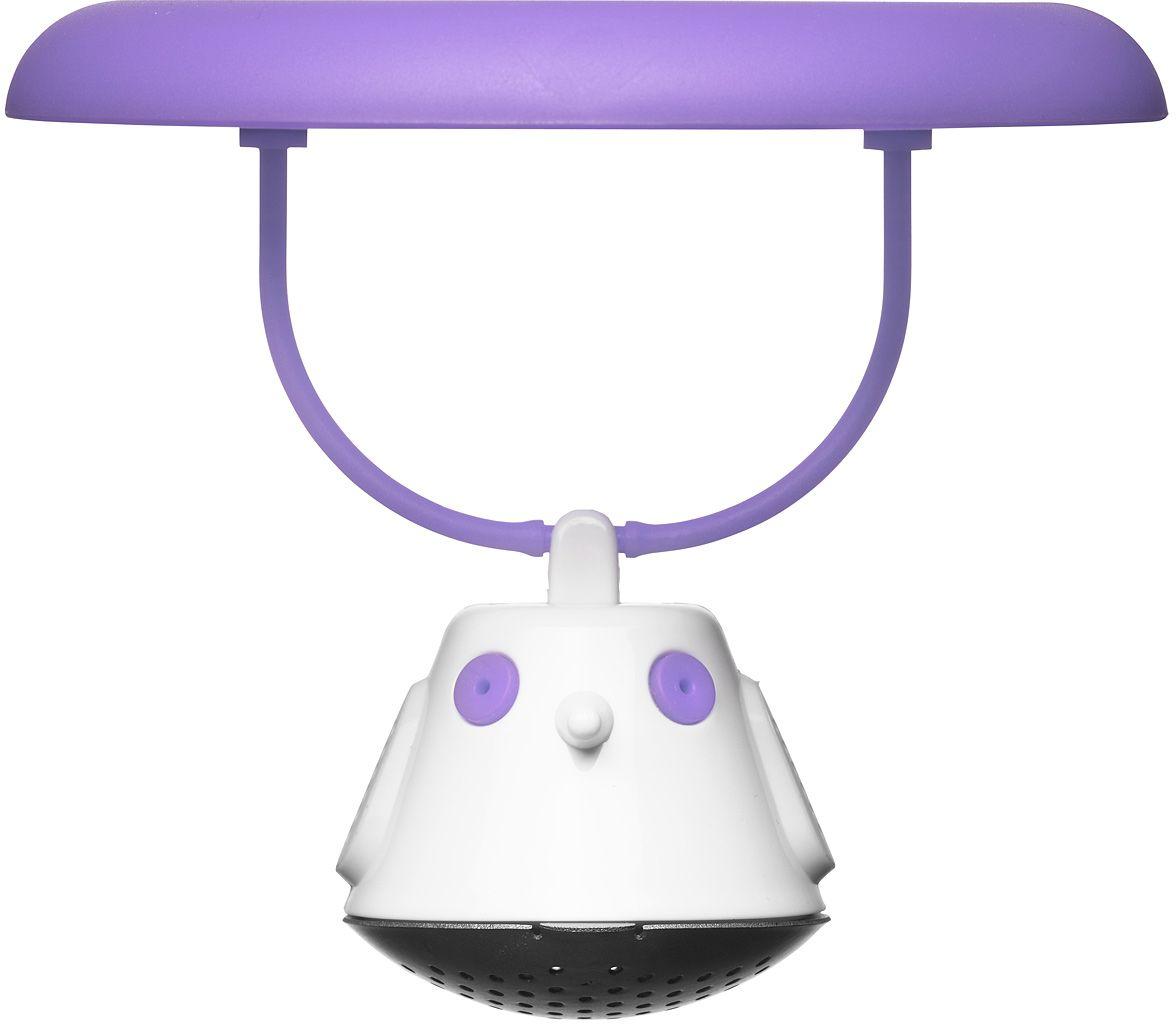 Емкость для заваривания чая QDO Birdie Swing, с крышкой, цвет: фиолетовый567394Оригинальная емкость для заваривания чая в виде небольшой птички. Снабжена крышкой для кружки, с помощью которой можно быстро и безопасно приготовить любимый напиток. Одним легким движением откройте стальной фильтр, наполните его необходимым количеством чайных листьев, так же легко закройте и поместите в горячую воду. Крышка не только поможет чаю завариться быстрее, но и убережет ваши пальцы от возможного нагревания. Когда чай готов, просто поднимите крышку, переверните и положите на стол. Вся жидкость с заварника будет стекать в нее, как в поднос - очень удобно. Емкость можно мыть в посудомоечной машине. Материал - нержавеющая сталь и пластик без содержания бисфенола-А.
