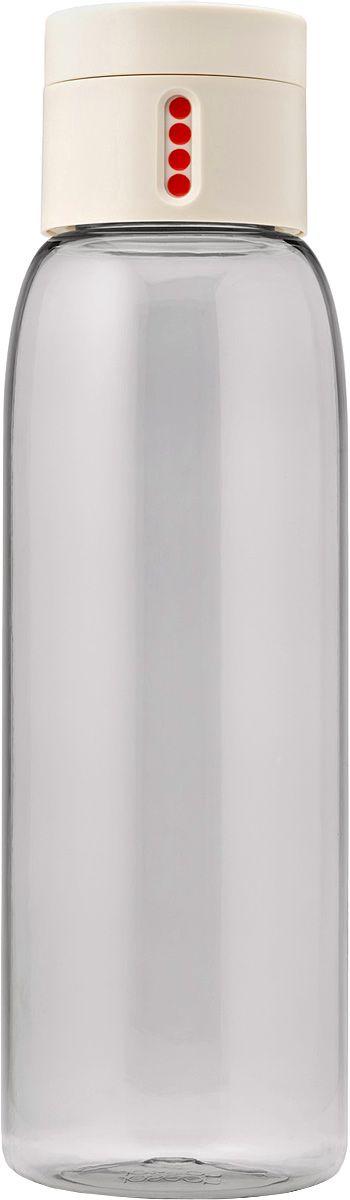 Бутылка для воды Joseph Joseph Dot, 600 мл, цвет: белый81047Уникальная бутылка, которая поможет вам контролировать ежедневное потребление воды. Инновационная крышка со счетчиком запомнит каждое наполнение бутылки в течение дня. Просто закрутите крышку до появления точки, а для питья используйте верхнюю крышку. Новая точка появится каждый раз, когда бутылка заново заполнена и крышка закручена. Из гладкого литого носика бутылки удобно пить, а широкое горлышко идеально для насыпания льда и мытья. Герметичная крышка надежно защитит содержимое от вытекания. Бутылка изготовлена из экологичного и удапрочного материала Tritan. Объем - 600 мл.