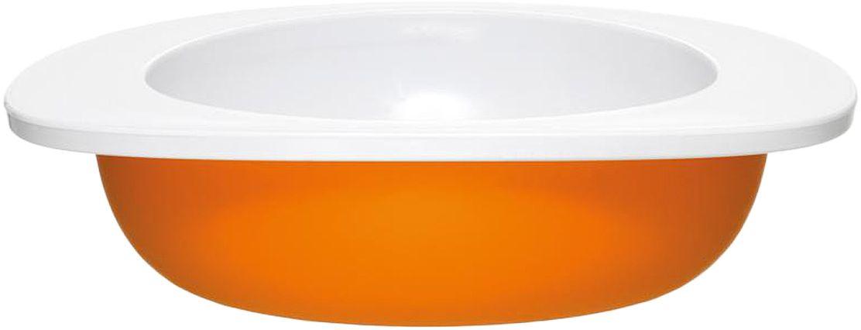 Миска для малыша Fabrikators, цвет: оранжевый115610Кормление без суеты и мелких неприятностей. Миска для малыша не скользит и надежно держится на поверхности стола благодаря дополнительному весу в нижней части. За счёт удобной формы чаши, из неё удобно есть кашу, суп или йогурт. Посуда не содержит бисфенол-А