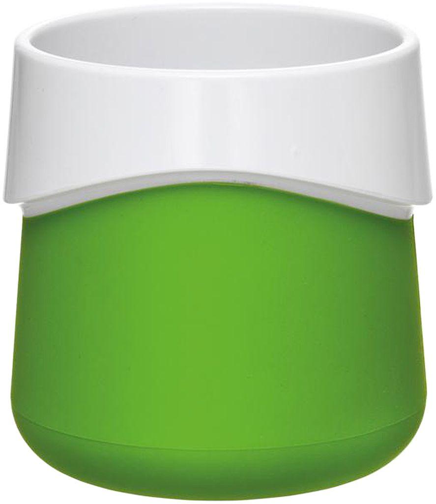 Кружка для малыша Fabrikators, цвет: зеленый115510Кормление без суеты и мелких неприятностей. Кружка для малыша не скользит и надежно держится на поверхности стола благодаря дополнительному весу в нижней части. Кружку удобно захватывать за специальный ободок вокруг чашки.